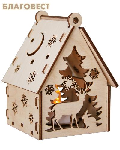 Рождественский сувенир-конструктор для раскрашивания
