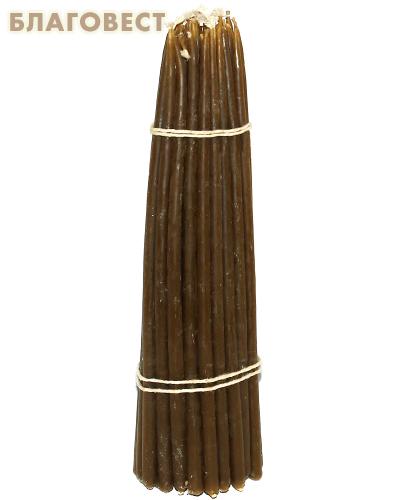 Свечи восковые конусные №19 (50шт, длина 190мм, толщина основания 5мм)