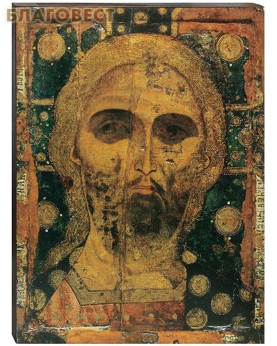 Икона Спас Нерукотворный (Златые Власы). Полиграфия, дерево, лак
