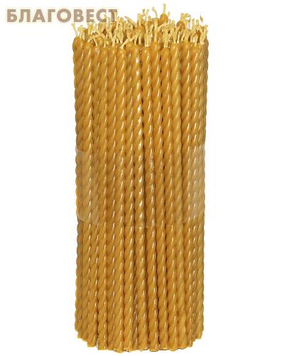 Свечи церковные восковые крученые (100% воск) №60, (150шт в пачке, размер свечи 7*210мм)