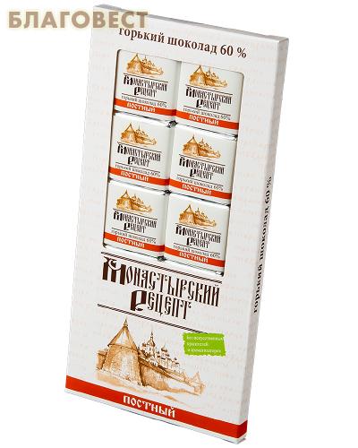 Шоколад горький Монастырский рецепт, постный (10шт/5г)