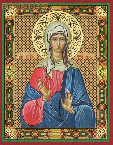 Икона Святая блаженная Таисия Египетская