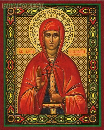 Икона Святая мученица Валерия (Калерия) Кесарийская