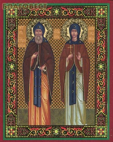 Икона Святые Петр и Феврония Муромские