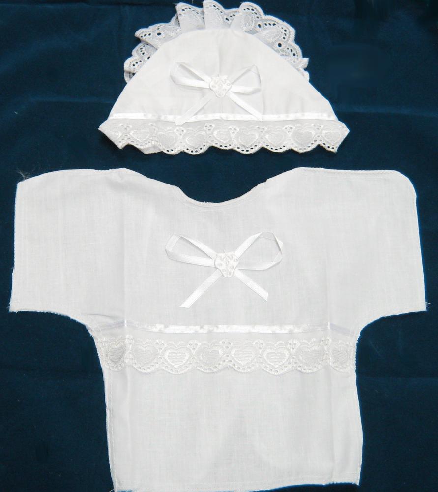 Как сшить комплект для крещения девочки 25