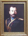 Император Николай II. Репродукция на  холсте. Размер полотна 29*40,5 см