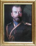 Император Николай II. Репродукция на ламинированной бумаге. Размер полотна 10*13,5 см