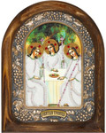 Икона Святая Троица (возможны различия в цветовой гамме)