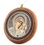 Икона автомобильная круглая Божией Матери