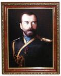 Император Николай II. Репродукция на  холсте. Размер полотна 20*28 см