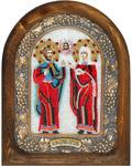 Икона Святые мученики Адриан и Наталия (возможны различия в цветовой гамме)