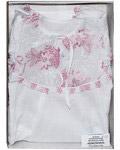 Крестильный набор «Кристина» (платье, косынка, пеленка). Возраст 0-6 месяцев. Ткань х/б, кружево