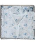 Крестильный набор «Нежный» (рубашка, пеленка-уголок). Возраст 0-6 месяцев. Ткань вышитая х/б