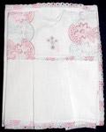 Крестильный набор (платье, пеленка-уголок). Возраст 0-6 месяцев. Ткань х\б, шитье