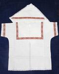 Крестильный набор «Богатырь» (рубашка, пеленка-уголок). Возраст 0-6 месяцев. Ткань х\б, тесьма, парча. Тесьма в ассортименте