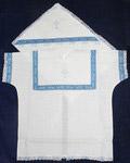 Крестильный набор «Богатырь» (рубашка, пеленка-уголок). Возраст 0-6 месяцев. Ткань х\б. Тесьма в ассортименте