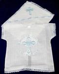 Крестильный набор «Молитва» (рубашка, пеленка). Возраст 6-24 месяца. Ткань х/б. Машинная вышивка