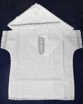 Крестильный набор «Херувим» (рубашка, пеленка-уголок). Возраст 0-6 месяцев. Ткань  х/б, тесьма в ассортименте