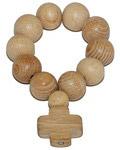 Четки деревянные Ясень золотой. 10 зёрен, (диаметр 10 мм)
