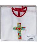 Крестильная рубашка «Лето». Возраст 2-3 года. Ткань х/б, крест – машинная вышивка