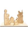 Рождественский сувенир - вертеп деревянный для раскрашивания
