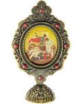 Икона Святой вмч. Георгий Победоносец, на подставке