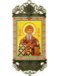 Икона-хоругвь Святитель Спиридон Тримифунтский