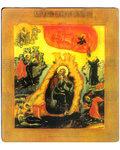 Икона Огненное Восхождения Святого Пророка Ильи. Полиграфия, дерево, лак