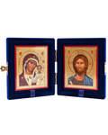 Складень бархатный (венчальная пара икон). Размер икон 170*208мм