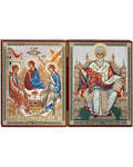 Складень Святая Троица - святитель Спиридон Тримифунтский