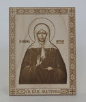 Икона Святая блаженнная Матрона Московская, настольная малая
