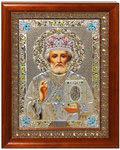 Икона Свт. Николай Чудотворец, в багете со стразами