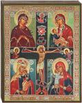Икона Четырехчастная с распятием
