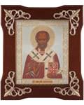Икона Святитель Николай Чудотворец, в деревянной рамке