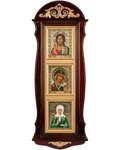 Киот тройной с иконами, вертикальный. Размер иконы 110*130мм