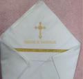 Крестильная пеленка с золотым галуном