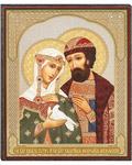 Икона Святые благоверные Петр и Феврония Муромские