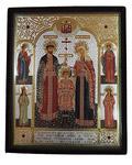 Икона Святые Царственные мученики. в бархатном футляре
