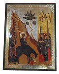 Икона Вход Господень в Иерусалим, аналойная