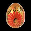 Яйцо деревянное с ручной росписью
