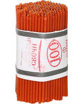 Свечи воскосодержащие красные (80% воска) 1 кг № 100 (250шт) диаметр 5,7 мм, длина 160 мм