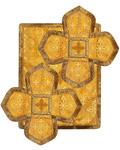 Воздух и покровцы, парча, желтый с золотом, рисунок в ассортименте