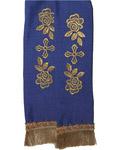 Закладка для Евангелие, габардин, синяя с золотом, длина 88 см