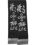 Закладка для Евангелие, габардин, черная с серебром, длина 80 см