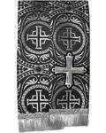 Закладка для Евангелие, парча, черная с серебром, длина 120 см