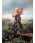 Пазл. Дети, бегущие от грозы. Художник Константин Маковский