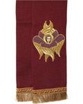 Закладка для Евангелия, бордо из габардина, 150 см