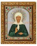 Икона Матрона Московская блж. св., в багете со стразами