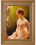 Великая княгиня Елизавета Федоровна. Репродукция на холсте. Багет. Размер изображения 292*205 мм