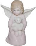 Ангел фарфоровый с мишкой